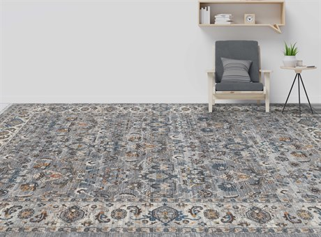 Amer Rugs Arcadia Gray / Brown Blue Rectangular Area Rug ARARC2