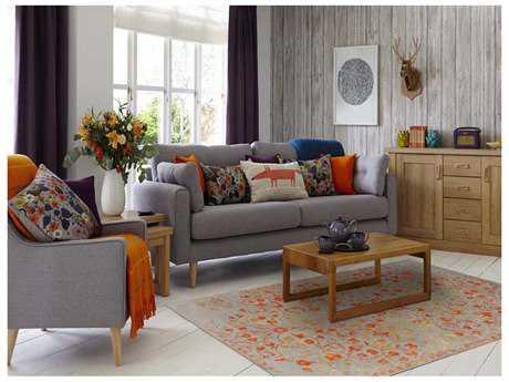 Amer Rugs Artist Silver-Orange Rectangular Area Rug ARART3GAIB