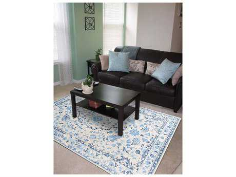 Amer Rugs Artist White-Blue Rectangular Area Rug ARART5LCJC