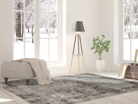 Amer Rugs Cambridge Gray Rectangular Runner Area Rug ARCAM15GRAY