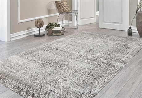 Amer Rugs Cambridge Light Gray / Ivory Rectangular Runner Area Rug ARCAM62REC