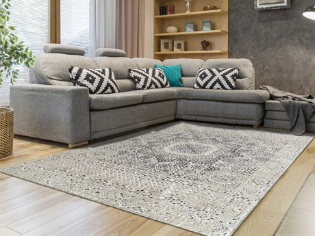 Amer Rugs Cambridge Platinum Rectangular Area Rug ARCAM33PLATINUM