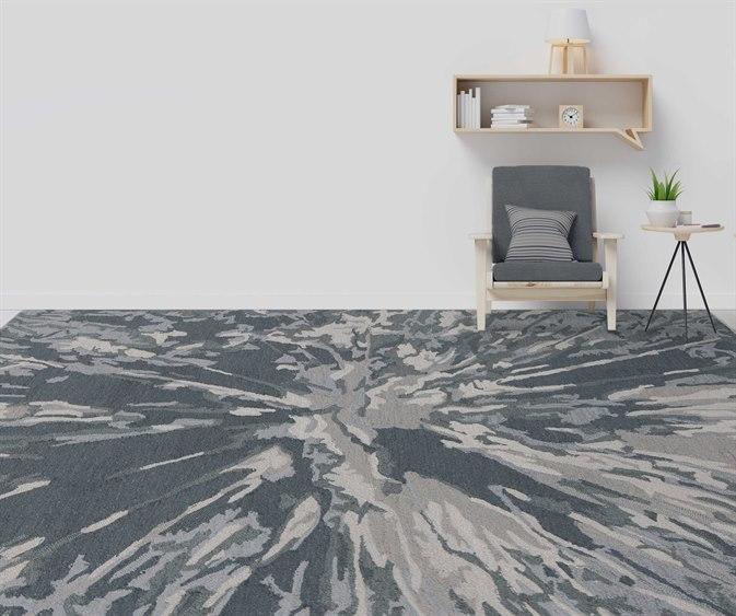 Amer Rugs Carrara Charcoal Gray Ivory Rectangular Area Rug Arcrr16rec