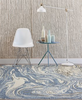 Amer Rugs Carrara Blue Beige Ivory Rectangular Area Rug Arcrr1rec