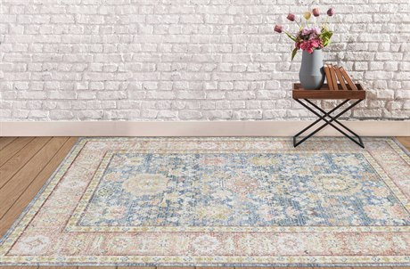 Amer Rugs Century Light Blue / Pink Green Rectangular Area Rug ARCEN15