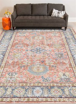 Amer Rugs Century Pink / Blue Gold Rectangular Area Rug ARCEN16