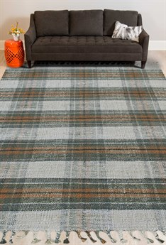 Amer Rugs Hampton Green / Orange Cream Rectangular Area Rug ARHMP1