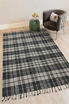 Amer Rugs Hampton Gray / Black Blue Rectangular Area Rug ARHMP2