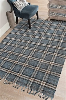 Amer Rugs Hampton Blue / Brown Cream Rectangular Area Rug ARHMP3