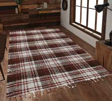 Amer Rugs Hampton Red / Black Cream Rectangular Area Rug ARHMP4