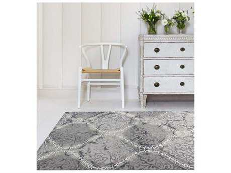Amer Rugs Kanoka Steel Gray Rectangular Area Rug ARKAN19AB
