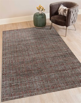 Amer Rugs Paradise Red / Gray Ivory-black Rectangular Area Rug ARPRD5