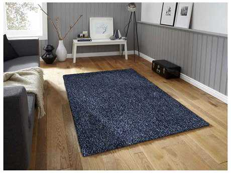 Amer Rugs Peacock Navy Rectangular Area Rug