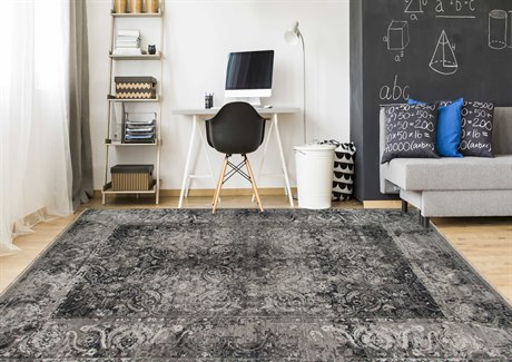 Amer Rugs Pearl Dark Gray Rectangular Area Rug ARPEA11