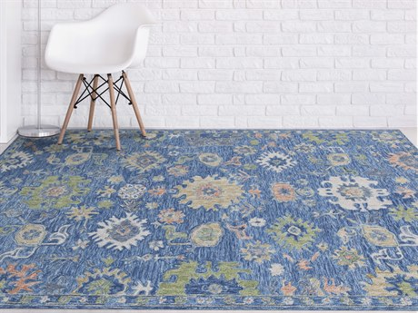 Amer Rugs Radiant Blue / Green Coral Rectangular Area Rug