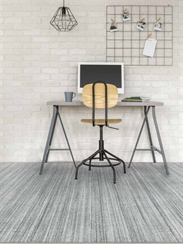 Amer Rugs Raffia Light Blue / Gray Rectangular Area Rug ARRAF7REC