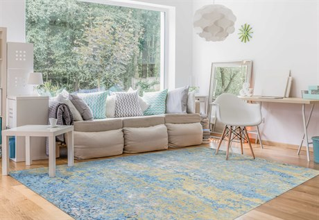 Amer Rugs Synergy Light Blue Rectangular Area Rug ARSYN40