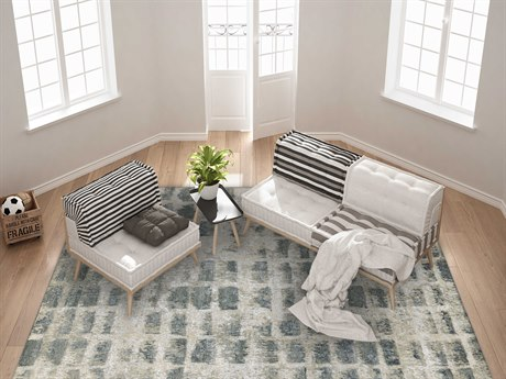 Amer Rugs Synergy Silver Sand Rectangular Area Rug