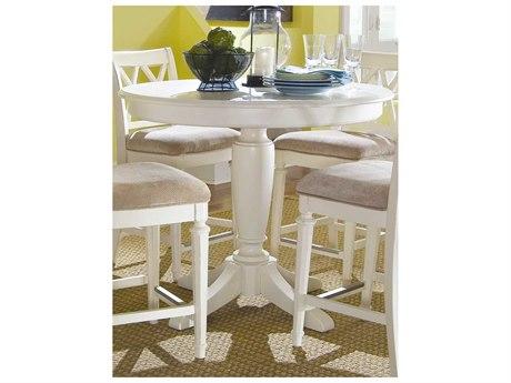 American Drew Camden Buttermilk 42'' Wide Bar Height Pedestal Table