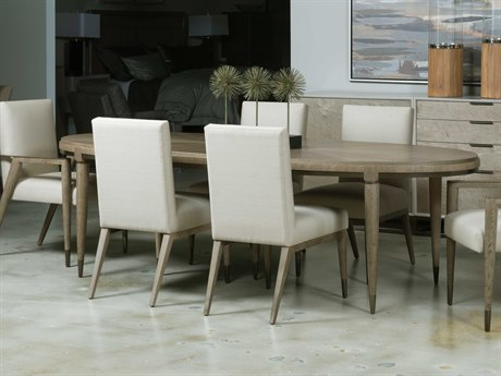 American Drew Modern Classics Flakey White Oak 82'' Wide Oval Dining Table AD603760