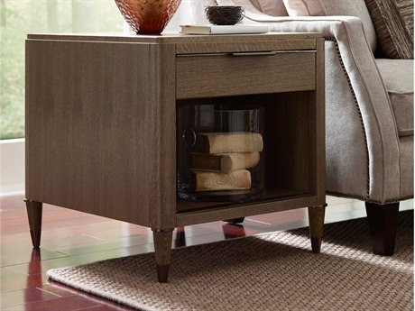 American Drew Modern Classics Flakey White Oak Gray 24'' Wide Rectangular End Table AD603915