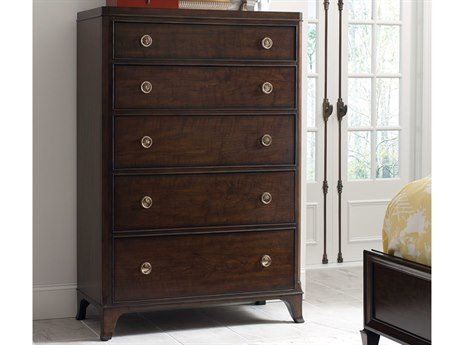 American Drew Grantham Hall Deep Coffee Tone 40''L x 19''W Chest of Drawers