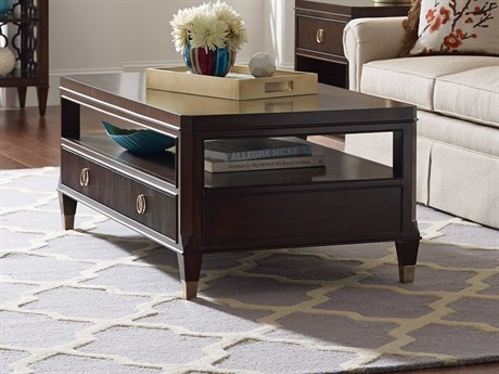 American Drew Grantham Hall Deep Coffee Tone 58''L x 28''W Rectangular Cocktail Table AD512910