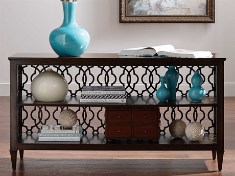 American Drew Grantham Hall Deep Coffee Tone 61.5''L x 18''W Rectangular Hall Console Table AD512926