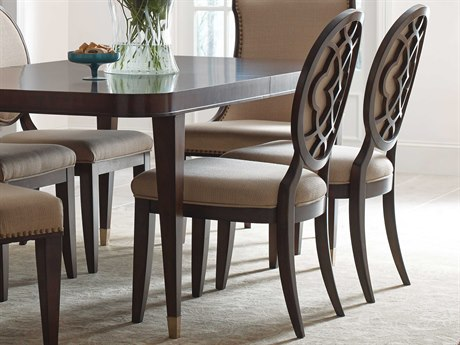 American Drew Grantham Hall Deep Coffee Tone Dining Side Chair with Decorative Back (Sold in 2) AD512636