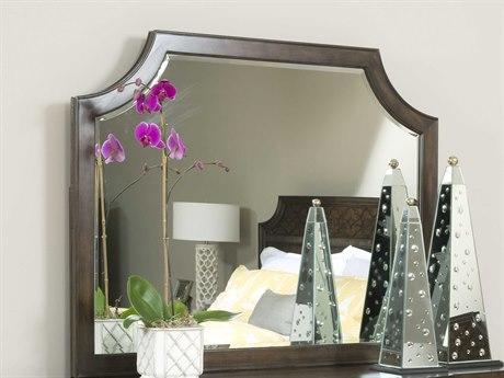American Drew Grantham Hall Deep Coffee Tone 52''W x 39.5''H Rectangular Dresser Mirror AD512030