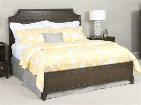 American Drew Grantham Hall Deep Coffee Tone California King Size Panel Bed AD512337R
