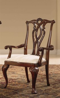 American Drew Cherry Grove Classic Antique Pierced Back Arm Chair (Sold in 2) AD792655