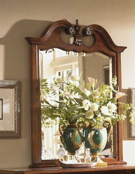 American Drew Cherry Grove 49 x 50 Classic Antique Cherry Dresser Mirror AD791021