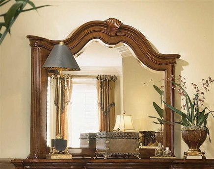 American Drew Cherry Grove 54 x 48 Classic Antique Cherry Dresser Mirror AD791022