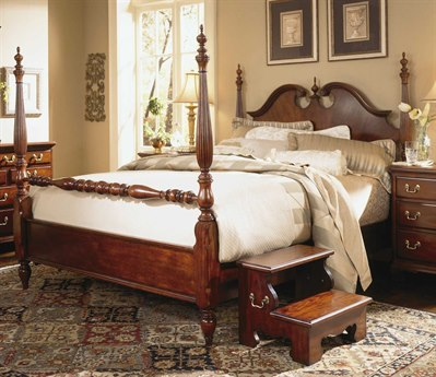 American Drew Cherry Grove Classic Antique Low Poster Queen Bed AD791383R