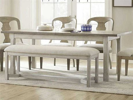 American Drew Litchfield Driftwood / Sun Washed 82'' Wide Rectangular Dining Table
