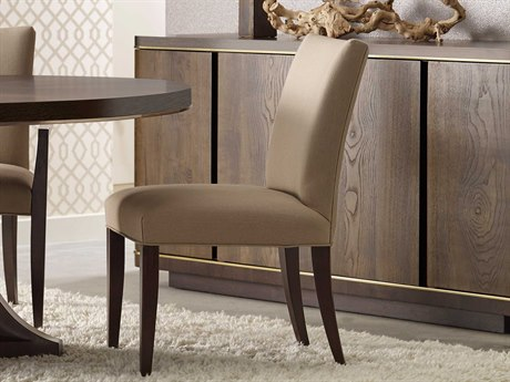 American Drew Modern Organics Smokey Quartz & Burnished Brass Side Dining Chair AD600636