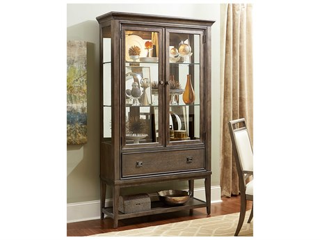 American Drew Park Studio Weathered Taupe with Gray Wash 46''L x 16''W Curio China Cabinet AD488855