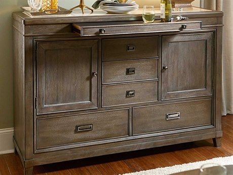 American Drew Park Studio Weathered Taupe with Gray Wash 62''L x 19''W Buffet AD488850