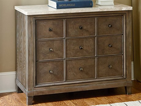 American Drew Park Studio Weathered Taupe with Gray Wash Apothecary Hall Chest