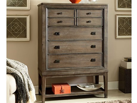 American Drew Park Studio Weathered Taupe with Gray Wash 42''L x 19''W Rectangular Chest of Drawers
