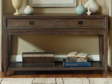 American Drew Park Studio Weathered Taupe with Gray Wash 56''L x 17''W Rectangular Console Table AD488925