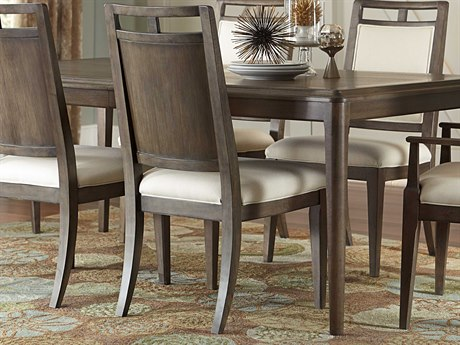 American Drew Park Studio Weathered Taupe with Gray Wash Wood Back Dining Side Chair (Sold in 2) AD488636