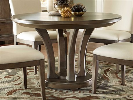 American Drew Park Studio Weathered Taupe with Gray Wash 48'' Wide Round Dining Table AD488701R