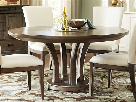 American Drew Park Studio Weathered Taupe with Gray Wash 62'' Wide Round Dining Table AD488702R