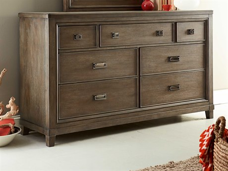 American Drew Park Studio Weathered Taupe with Gray Wash Dresser AD488130