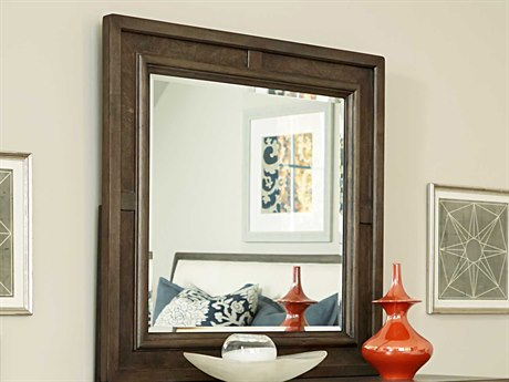American Drew Park Studio Weathered Taupe with Gray Wash 40'' Wide Square Dresser Mirror AD488030