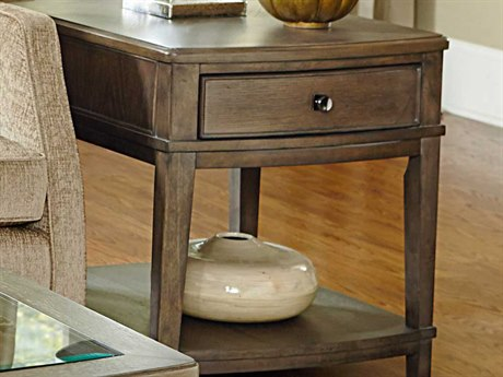 American Drew Park Studio Weathered Taupe with Gray Wash 23''L x 27''W End Table AD488915