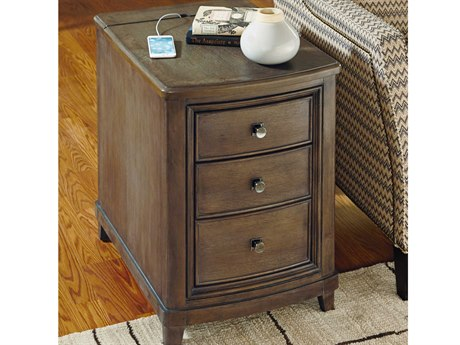 American Drew Park Studio Weathered Taupe with Gray Wash 18.5''L x 27''W End Table