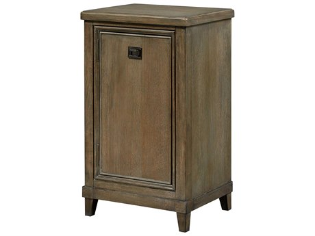 American Drew Park Studio Weathered Taupe with Gray Wash Right Side Facing Pier Entertainment Base AD488582